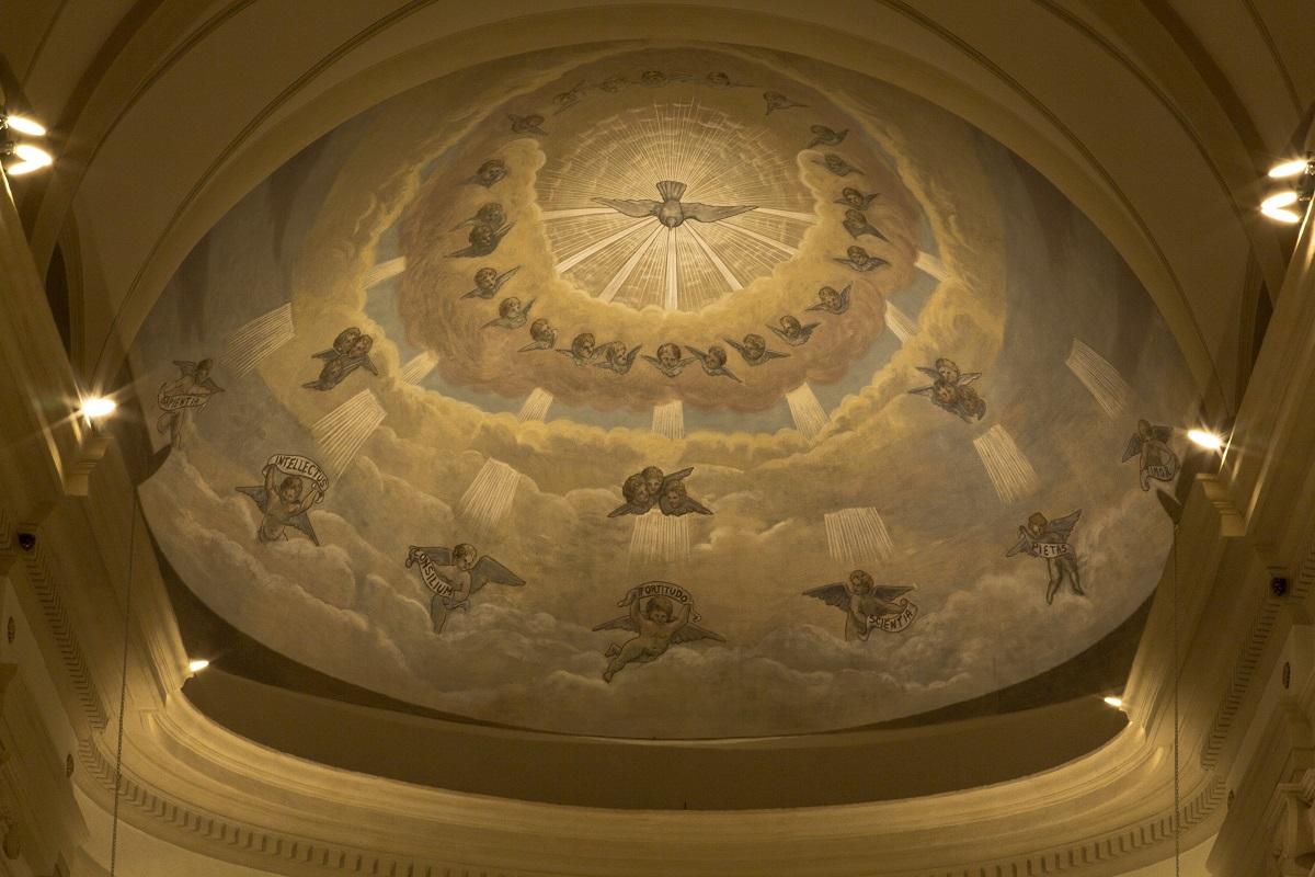 Illuminazione Affreschi Soffitto Chiesa