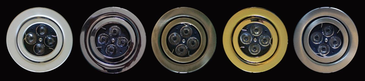 Faretti Incasso Cartongesso LED Colori disponibili: Cromo, Nichel, Oro, Bronzo e laccato bianco