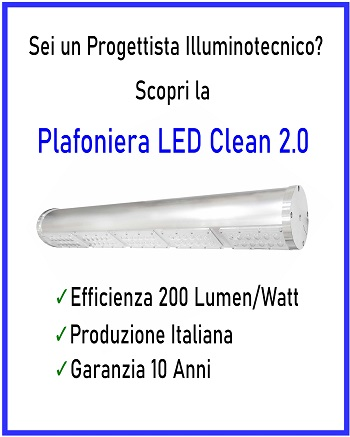 Plafoniera a LED Industriale Clean 2.0