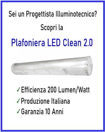 Plafoniera a LED Industriale Clean 2.0